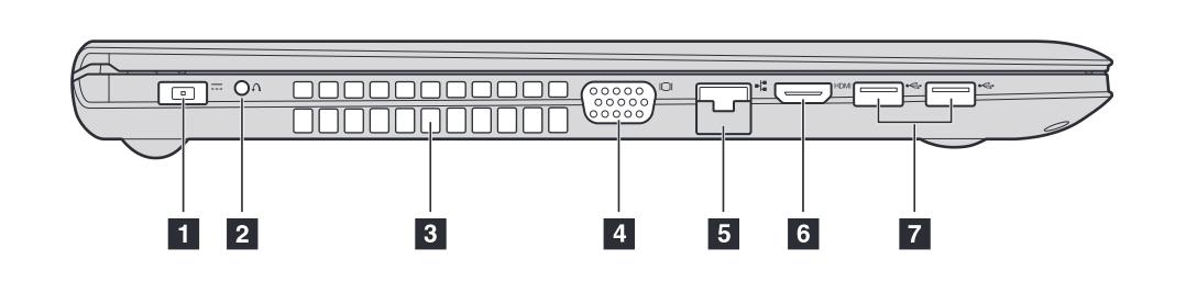 Ноутбук Lenovo Z50. Вид сбоку.